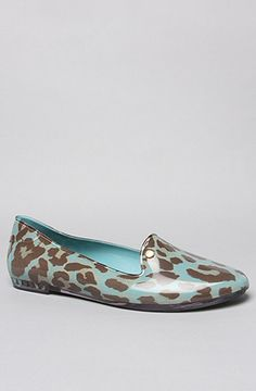 The Virtue Shoe in Turquoise Leopard by Melissa Shoes