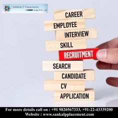 When you choose a recruitment firm for onboard hiring, Sankalp Placement is the perfect arsenal, to recruit the finest candidate that matches the skills and experience for the designated job. #sankalpplacement #career #opportunity #jobopening