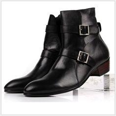 Resultado de imagen para botas con tacon para hombre