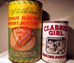 Vintage Cans make such cute decor!