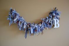 DIY Ragamuffin Garland * It takes a lot of fabric, so when you initially think you have enough, gather about that much more.
