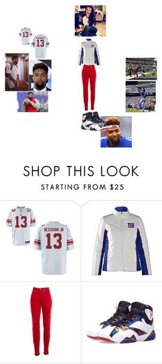 """""""Odell Beckham Jr"""" by arie-boi on Polyvore featuring NIKE, G34HER by Carl Banks, Versace Jeans Couture, Jordan Brand, mens, men, men's wear, mens wear, male and mens clothing"""