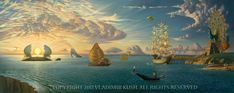 Embody Your Muse - Vladimir Kush - Mythology of the Oceans and Heavens