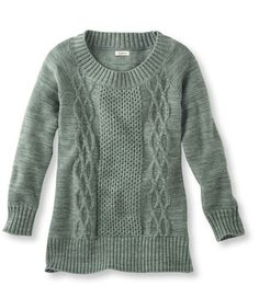 Marled Mix-Stitch Sweater, Pullover: Crewnecks | Free Shipping at L.L.Bean (Bay Leaf)