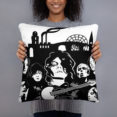 £19.57 – £21.38Cushion, Manchester Scene, Manchester BandsA strategically placed accent can bring the whole room to life, and this pillow is just what you need to do that. What's more, the soft, machine-washable case with the shape-retaining insert is a joy to have long afternoon naps on. • 100% polyester case and insert • Hidden zipper • Machine-washable case • Shape-retaining polyester insert included (handwash only) • Blank product components in the US sourced fr Facebook T Shirt, Johnny Marr, Cushions For Sale, Manchester Uk, Afternoon Nap, Suffragette, Positive People, Music Icon, Cushion Pillow