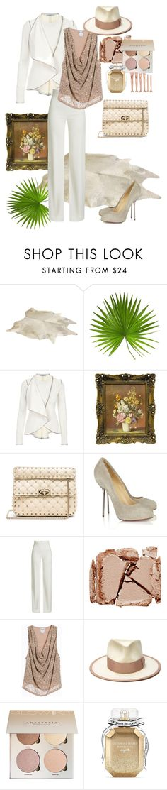 """Whiteee.."" by bm-bojanamilanovic ❤ liked on Polyvore featuring Givenchy, Valentino, Christian Louboutin, Brandon Maxwell, Surratt, Haute Hippie, Nick Fouquet and Victoria's Secret"