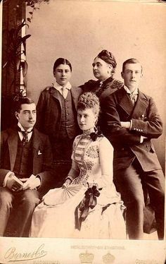 Mary of Teck with her mother Mary Adelaide of Cambridge and brothers.