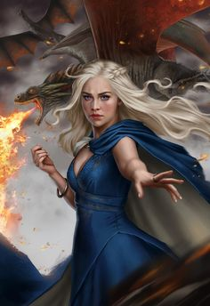 The new season of Game of Thrones has started and the battle has once more begun! Daenerys Targaryen has inspired many digital artists to come up with some outstanding artwork. Here is a collection of ten interpretations of Khaleesi. Art Game Of Thrones, Dessin Game Of Thrones, Winter Is Here, Winter Is Coming, Familia Targaryen, Art Tatum, The Mother Of Dragons, Ned Stark, Sansa Stark