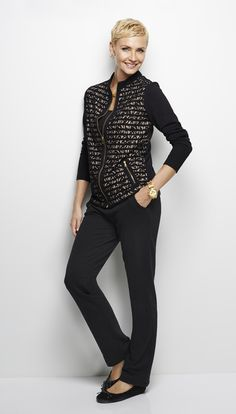 This Zenergy zip-front jacket strikes the perfect balance between feminine and sporty style