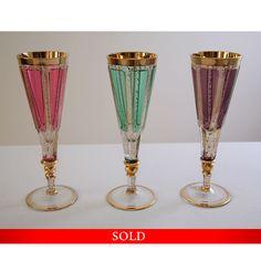 Bohemia flute glass