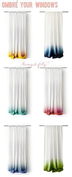 How To Dip Dye Ombre Curtains | Nakedsnakepress.com
