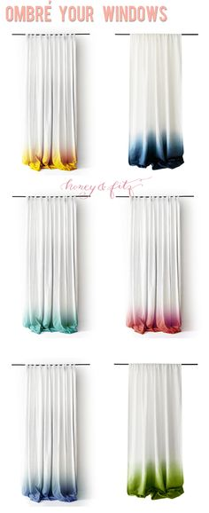 Ombre Dip Dyed Window Panels