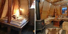 Strøken: Selv om hytta ser ut som en jordgamme har den alle fasiliteter. Innvendig er det varmekabler i flislagt gulv, kjøkkenkrok med vaske...