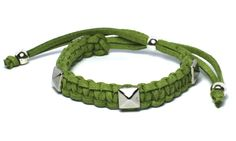 macrame suede and studs_Green_8.50EUR