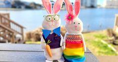 DIY Dress Up Easter Bunny Décor | Dollar Tree Diy Dress, Dress Up, Easter Bunny Decorations, Hoppy Easter, Easter Baskets, Dollar Tree, Diy Home Decor, Christmas Ornaments, Holiday Decor