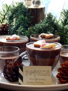 Food for thought: Ρόφημα αυθεντικής σοκολάτας Love Chocolate, Chocolate Coffee, Chocolate Fondue, Christmas Deserts, Healthy Cookies, Milkshake, Smoothies, Stuffed Mushrooms, Food And Drink