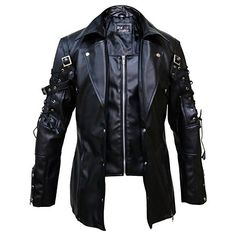 online shopping for Punk Rave Poison Black & Maroon Jacket Mens Faux Leather Goth Steampunk Military Coat, from top store. See new offer for Punk Rave Poison Black & Maroon Jacket Mens Faux Leather Goth Steampunk Military Coat, Gothic Fashion, Mens Fashion, Fashion Outfits, Fashion Clothes, Style Fashion, Fashion Tips, Steampunk Jacket, Gothic Steampunk, Gothic Coat