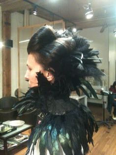 Raven costume updo
