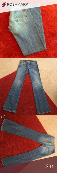 7 For All Mankind distressed jeans sz 28 7 For All Mankind sz 28 distressed jeans in great shape. Worn only a couple of times. Smoke free home. Offers welcomed. Thanks! 7 For All Mankind Jeans Boot Cut