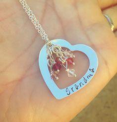 Valentine Gifts Heart Necklace Mom Necklace by natashaaloha