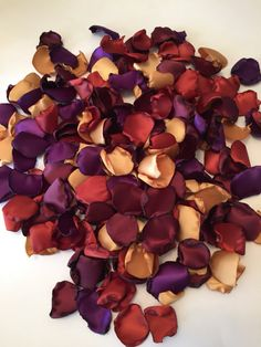 Gold Rose Petals/Burnt Orange by GardenRosePartyDecor on Etsy Ashley approves Plum Wedding, Maroon Wedding, Fall Wedding Colors, Autumn Wedding, Wedding Flowers, Dream Wedding, Wedding Ideas, Wedding Stuff, Wedding Planning