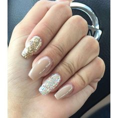 Love this set by Damari's Nails in Texas! She used Sepia Prizma, Heart of Gold Prizma and White Twinkling Stars Prizma! :nail_care::two_hearts::sparkles:
