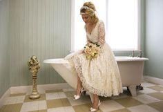 soft feminine and beautiful short wedding dress