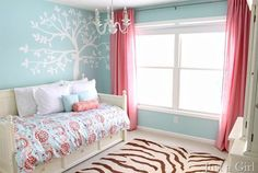 chic kids room, perfect for a pre-teen little girls room! #teengirlbedroomideastumblr
