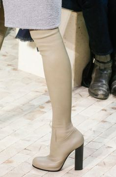 *** 2014 Celine Thigh High Boots in Calfskin Taupe, Paris, Kendall Jenner ***