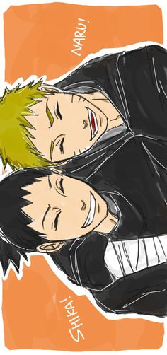 Naruto and Shikamaru, I think they make the better best friends than Naruto and Sasuke