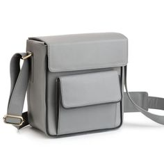 MAPP OF LONDON Leather Camera Bag Grey.  mappoflondon  all Leather Camera  Bag 0d95d89f1c