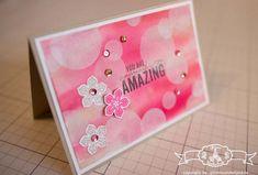 Glückwunschkarte - Stampin' Up! Bokeh Technik mit Petite Petals