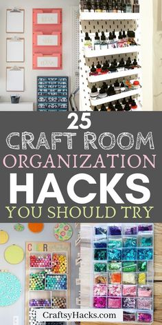 Organize craft room with these organization tips and tricks. They're simple, pra. - Organize craft room with these organization tips and tricks. They're simple, practical and will k - Organisation Hacks, Craft Organization, Organizing Ideas, Arts And Crafts For Adults, Easy Arts And Crafts, Diy Crafts, Small Craft Rooms, Craft Room Design, Art And Craft Videos
