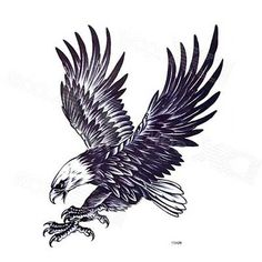 Eagle Bird Birds Animal Proud Temporary Tattoo Fake Tattoo inch - Vögel Temporary Tattoos Birds Temporary Tattoos - Tatouage Tribal Eagle Tattoo, Eagle Tattoos, Eagle Tattoo Forearm, Black Eagle Tattoo, Eagle Chest Tattoo, Small Eagle Tattoo, Bird Tattoo Men, Black Bird Tattoo, Tattoo Man