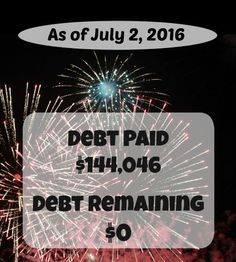 Throughout our debt repayment we have shared our monthly income, expenses, and debt payments.  We've finally reached the end and we're debt-free!