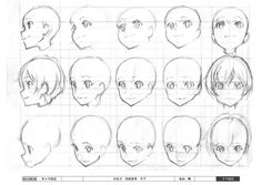 Image result for anime face angles