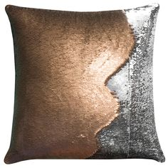 Mermaid 2-Tone Sequin Throw pillow