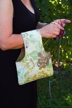 Bolsa de proyecto tejer el bolso de mano bordados por Kaepseles