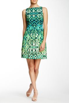 Inset Waist Fit & Flare Dress (Petite) by London Times on @nordstrom_rack