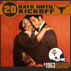 20 DAYS UNTIL KICKOFF! Earl Campbell's No. 20 was the first number retired by Texas. The Tyler Rose ran for 4,443 career rushing yards en route to becoming UT's first Heisman Trophy winner in 1977. #UT63Champs
