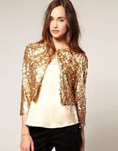 Mango Sequin Cardigan