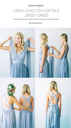 Convertable Versa Dress in Mercury by Davids Bridal styled by 100 Layer Cake / Photo Braedon Flynn