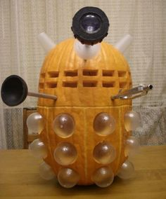"Someone elso said ""UFO pumpkin"", they obviously don't watch Doctor Who. This is CLEARLY a Dalek."