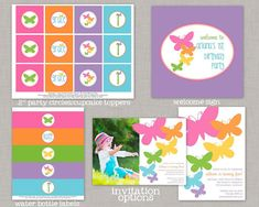 Butterfly Birthday, Butterfly Birthday Decorations, Butterfly Party, Printable