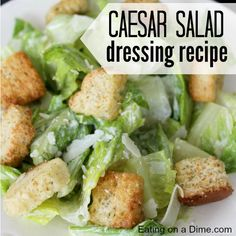 This caesar salad dressing recipe isn't very hard. In fact it is very easy to make to make a delicious ceasar salad. Add chicken and you have a complete meal.