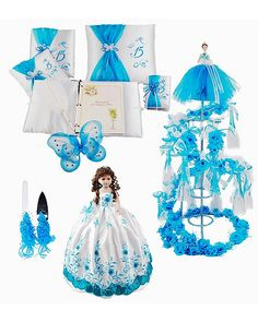 Quinceanera Blue Butterfly Theme qsp111_1_