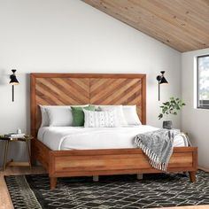 White room: 60 ideas and projects that can inspire you - Home Fashion Trend Wood Platform Bed, Upholstered Platform Bed, King Platform Bed Frame, Bedroom Sets, Bedroom Decor, Wood Bedroom Furniture, Modern Furniture, Diy Bett, Wooden Bed Frames