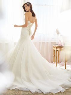 Style No. Y11573 - PHOENIX » Wedding Dresses » 2015 Spring Collection » Sophia Tolli » Available Colours : Ivory, White ~ Removable Spaghetti & Halter Straps included. (back)