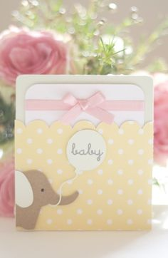 baby shower pocket card
