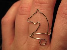 Wire Wrapped Horse Head MADE to ORDER Adjustable Ring